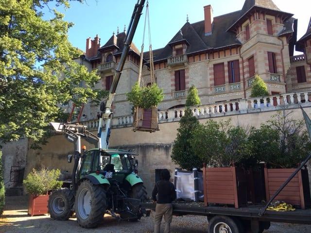 Remplacement des bacs de la terrasse de la Maison Mantin